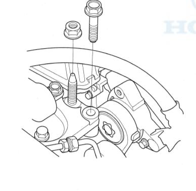 engine side mount bracket mount